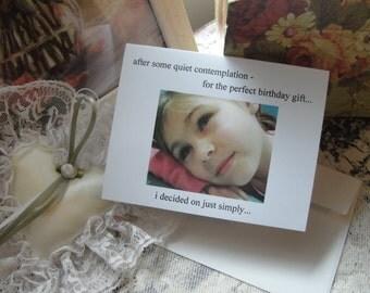 Birthday Greeting Card, Quiet Contemplation Birthday Card