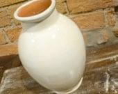 Vintage Moroccan white ceramic vase