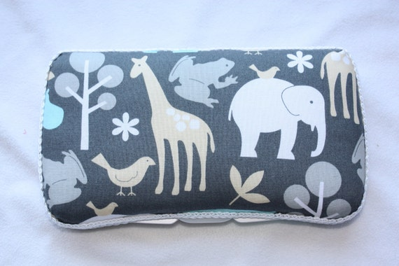 Michael Miller Zoology Boutique Baby Wipe Case