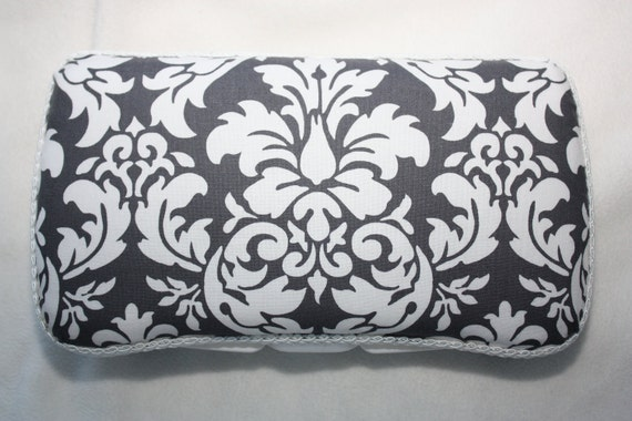 Michael Miller Damask Gray Boutique Baby Wipe Case
