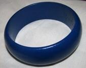 Vintage Blue Bangle Bracelet