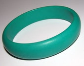 St. Patrick's Day SALE Vintage Teal Bangle Bracelet