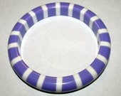 Springtime Purple and White Bangle Bracelet