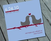 Unique & Modern SAVE THE DATE Card, Digital printable file