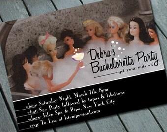 Barbie SPA & BACHELORETTE PARTY Invitation: Digital printable file