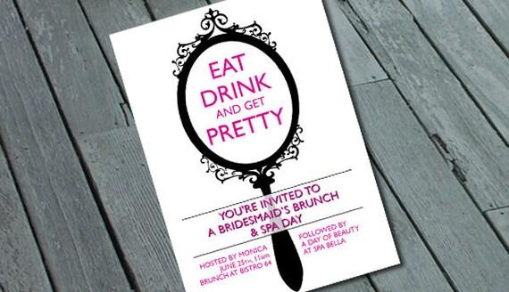 BRIDESMAID BRUNCH & SPA Day Invitation: Digital printable file