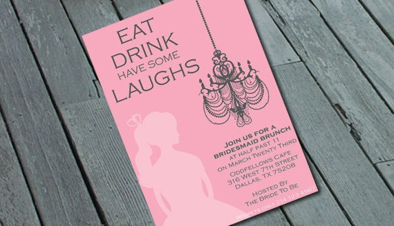 BRIDESMAID BRUNCH Invitation: Digital printable file/Printing Available Upon Request