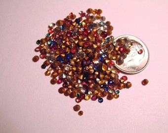Lot of 250 Tiny Vintage Loose Rhinestones Craft Repair