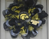 Southern Miss Mesh Wreath