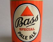 2 Mens Quality Handkerchiefs 100% Cotton in Vintage Bass Special Pale Ale Marketing Mock Can