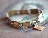 Panels of Dusty Gold Bracelet - Miniature Frames