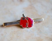 Red Boxing Gloves -  Golden Tie Clip