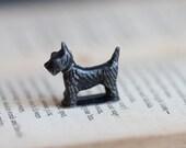 Tiny Weenie Black Wire Fox Terrier Figurine - Celluloid dog Miniature