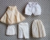 Miniature Tattered Panties and Underskirts - Antique Dolls Underwear - Instant Collection