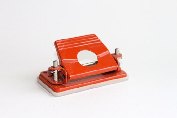 Red Orange Metal Small Hole Puncher