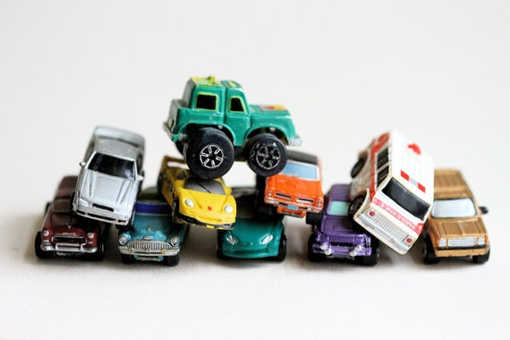 Tiny little Colorful Cars - Instant Collection of 10