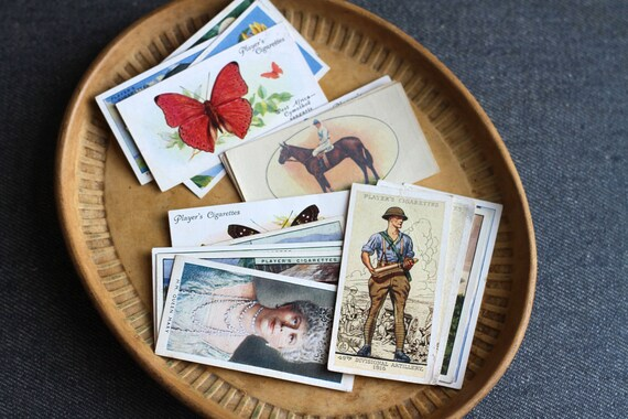 Old Tobacco Cards - Assorted Lot of 16 Cigarette cards Paper Ephemera