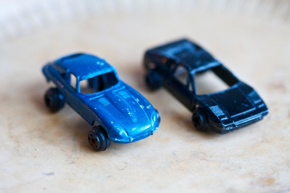 Die Cast miniature Tootsie Toy Cars - Blue and Black