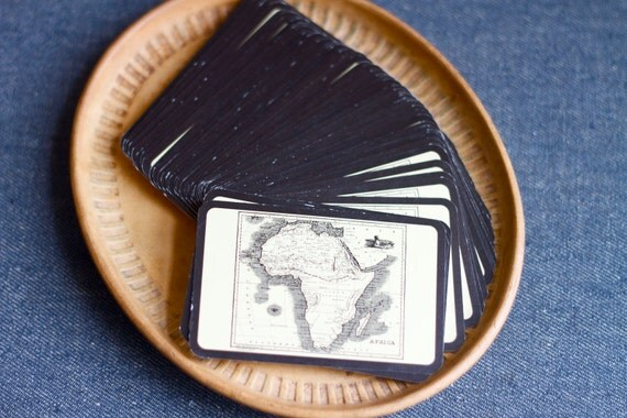Map Of African Continent Playing Cards - 55