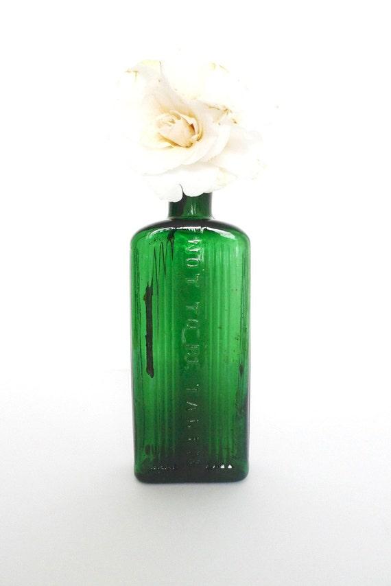 Vintage 'Not to be taken' poison bottle