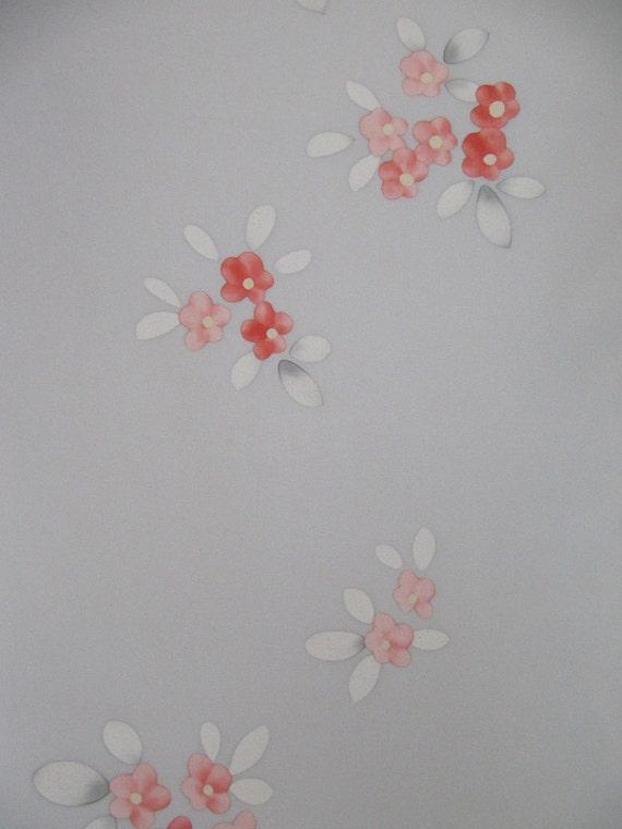 RESERVED LISTING - Vintage Japanese Kimono Silk with floral design Wonderful details