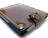 Wallet with Money Clip in cowhide two interior pockets for the cards sleeve card holder business cards ID card cash