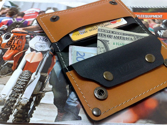 Black and orange Harley Davidson Colors cowhide wallet  iPhone 5 S or IPhone 5 ot Iphone SE case cards cash coin purse hole for headphones