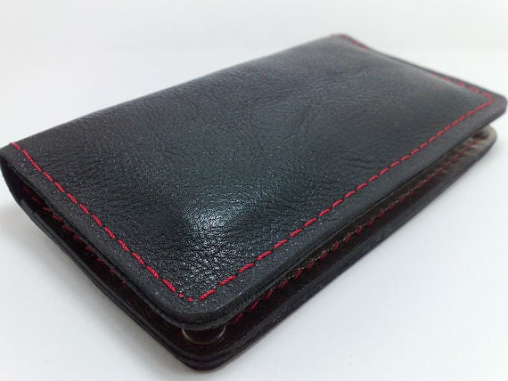 NEW for Iphone 5 handcrafted leather wallet for iPhone 5 case cards cash coin purse/ OOAK only one/ initials
