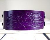 Leather cuff purple free spirit