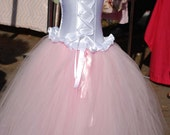 Over the top custom  set corset top and floor length tutu skirt. 6 m 12 months 18 m 2T 3T 4T 5TGorgeous and perfect for pageants Birthdays