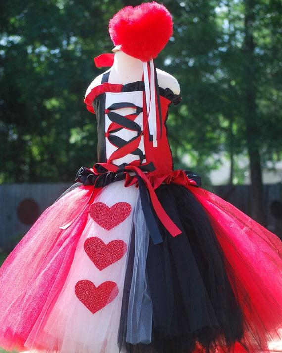 Queen Of Hearts Costume Diy Tutu Items similar to Custo...