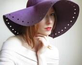 Lilac Boho Floppy Hat