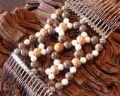 Exclusive Handmade Hair Comb - Semi Precious Stones - Lampwork Beads - Gaia's Domain
