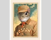 5x7 - Kid Squirrely of the Boston Beaneaters - print