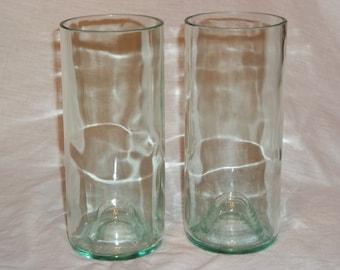 Set of 4 Clear  Wine Bottle Glasses