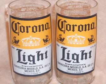 Set of 4 Corona Light Juice glasses