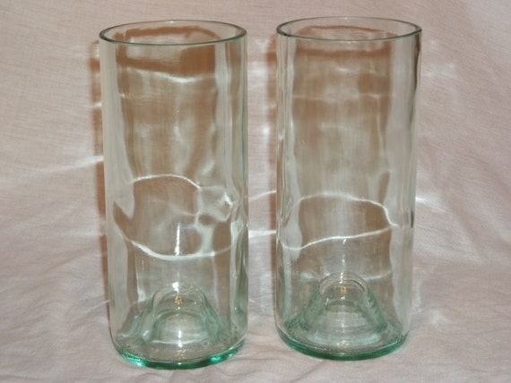 Set of 4 Clear  Wine Bottle Glasses