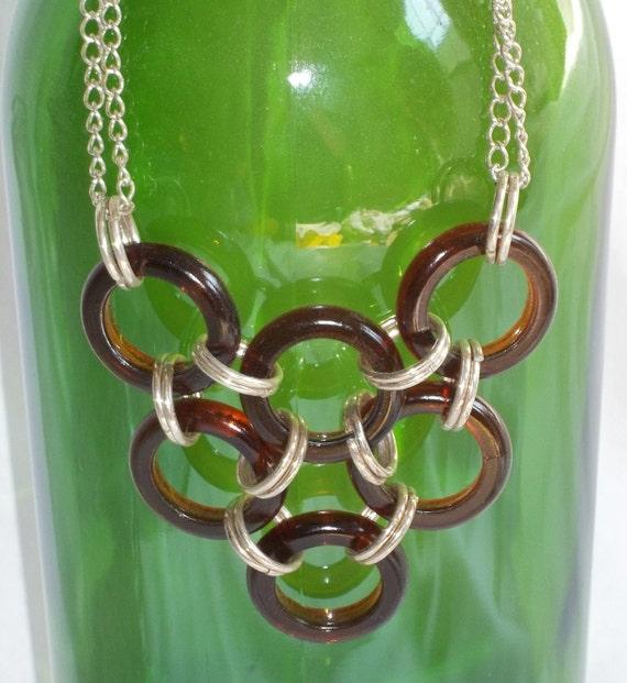 Beer Bottle Ring Necklace