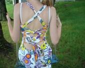 Floral mod maxi dress
