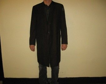 Mens metallic overcoat