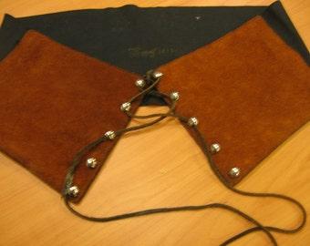Boho wide suede belt 1960s