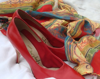 50s Red pumps