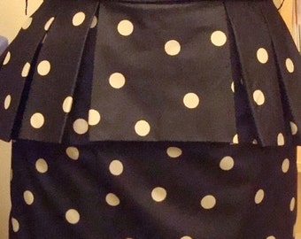 Peplum and polka dotdress