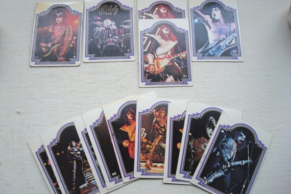KISS trading cards 1970s