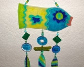 Fish Wind Chime Recycled Glass
