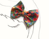 Butterfly Bow - Vintage Liberty of London Print OOAK - Hair Accessory, Brooch / Pin, Wedding, Spring Fashion, Gift for Her, Free Shipping