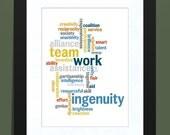 Team Work- Word Cloud Print
