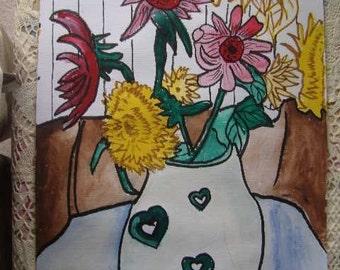 Still Life Study Of Flowers 7
