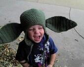 Yoda Earflap Hat (3-10 year old)
