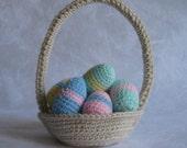 Easter Eggs and Basket: Custom order for April